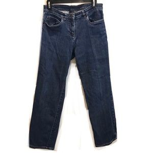 Eileen Fisher Dark Wash Ankle Stretchy Jeans Small